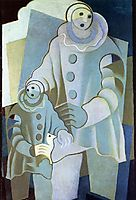 Two Pierrots, 1922, gris