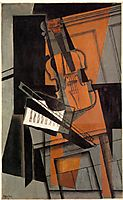 The violin, 1916, gris