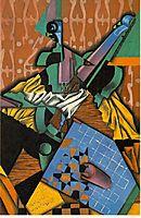 Violin and Checkerboard, 1913, gris