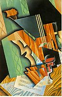 Violin and glass, 1915, gris