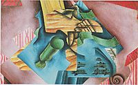 Violine and glass, 1913, gris