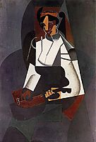 Woman with a Mandolin (after Corot), 1916, gris