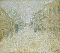 Škofja Loka in the snow, 1905, grohar
