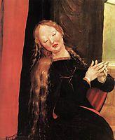 Annunciation (detail), 1515, grunewald