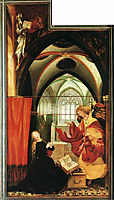 The Annunciation (left wing of the Isenheim Altar), c.1515, grunewald