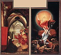 Annunciation and Resurrection, c.1515, grunewald
