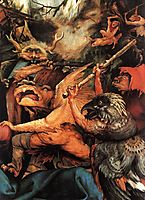 Demons Armed with Sticks (detail from the Isenheim Altarpiece), c.1516, grunewald