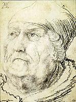 Head of an Old Man, c.1525, grunewald