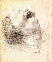 Head of a Shouting Man, c.1520, grunewald