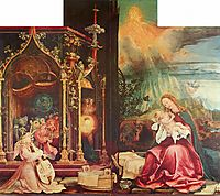 Nativity and Concert of Angels from the Isenheim Altarpiece (central panel), c.1516, grunewald