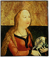 Saint Agnes of Rome (Coburg Panel), c.1500, grunewald