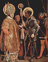Saints Erasmus and Mauritius, 1523, grunewald