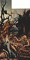 St. Anthony Visiting St. Paul the Hermit in the Desert (left wing of the Isenheim Altar), 1516, grunewald