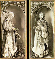 St. Elizabeth and a Saint Woman with Palm, 1511, grunewald