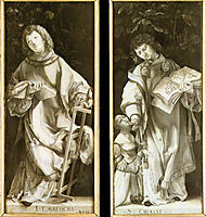 St. Lawrence and St. Cyricus, 1511, grunewald