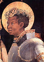 St. Maurice (detail from The Meeting of St. Erasmus and St. Maurice), c.1524, grunewald
