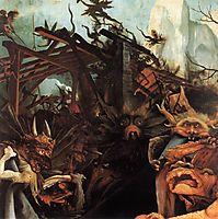 The Temptation of St. Anthony (detail), 1515, grunewald