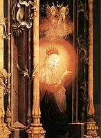 The Virgin Illuminated (detail from the Concert of Angels from the Isenheim Altarpiece), c.1516, grunewald