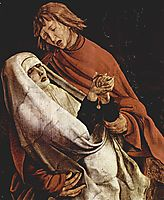 Virgin and Mary Magdalen at the foot of the Cross (detail from the Isenheim Altarpiece), c.1515, grunewald