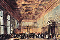 Audience Granted by the Doge, 1770, guardi