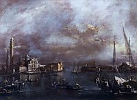 The Basin of Saint Mark-s Square, with San Giorgio and the Giudecca, c.1774 (oil on canvas), 1774, guardi