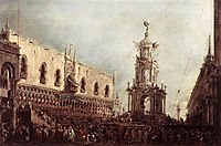 Carnival Thursday on the Piazzetta, 1770, guardi
