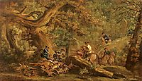 Deer hunting, guardi