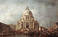The Doge at the Basilica of La Salute, 1770, guardi