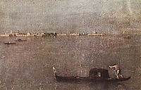The Gondola on the Lagoon, 1770, guardi