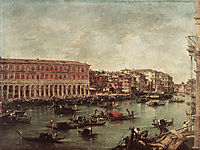 The Grand Canal at the Fish Market (Pescheria), 1765, guardi