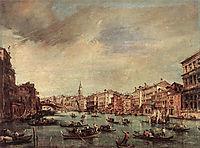 The Grand Canal, Looking toward the Rialto Bridge, 1765, guardi