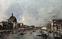 The Grand Canal with San Simeone Piccolo and Santa Lucia, 1780, guardi