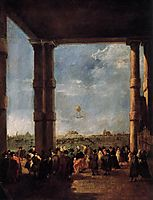 Hot Air Balloon Rising, 1784, guardi