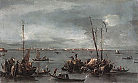 The Lagoon Looking toward Murano from the Fondamenta Nuove, 1770, guardi