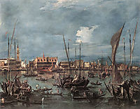 The Molo and the Riva degli Schiavoni from the Bacino di San Marco, 1760, guardi