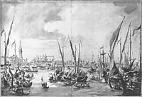 The Molo and the Riva degli Schiavoni from the Bacino di San Marco, c.1760, guardi
