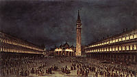 Nighttime Procession in Piazza San Marco, 1758, guardi