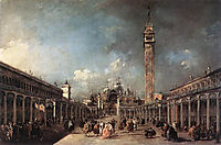 Piazza San Marco, 1777, guardi