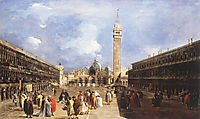 The Piazza San Marco towards the Basilica, 1765, guardi