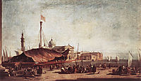 The Piazzetta, Looking toward San Giorgio Maggiore, 1758, guardi
