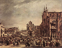 Pope Pius VI Blessing the People on Campo Santi Giovanni e Paolo, 1782, guardi