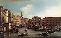The Rialto Bridge with the Palazzo dei Camerlenghi, 1763, guardi