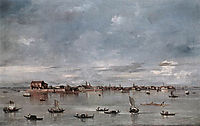 San Cristoforo, San Michele and Murano, Seen from the Fondamenta Nuove, 1760, guardi