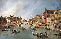 The Three Arched Bridge at Cannaregio, 1770, guardi