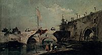 Town with a Bridge, c.1750, guardi