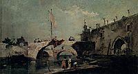 Town with a Bridge, c.1750, guardi