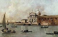 Venice: A View of the Church of San Giorgio Maggiore Seen from the Giudecca, guardi