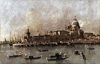 Venice: A View of the Entrance to the Grand Canal, guardi
