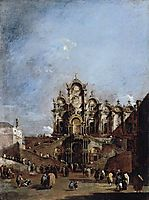 View of the Campo San Zanipolo in Venice, 1782, guardi