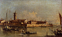View of the Island of San Michele near Murano, Venice, guardi